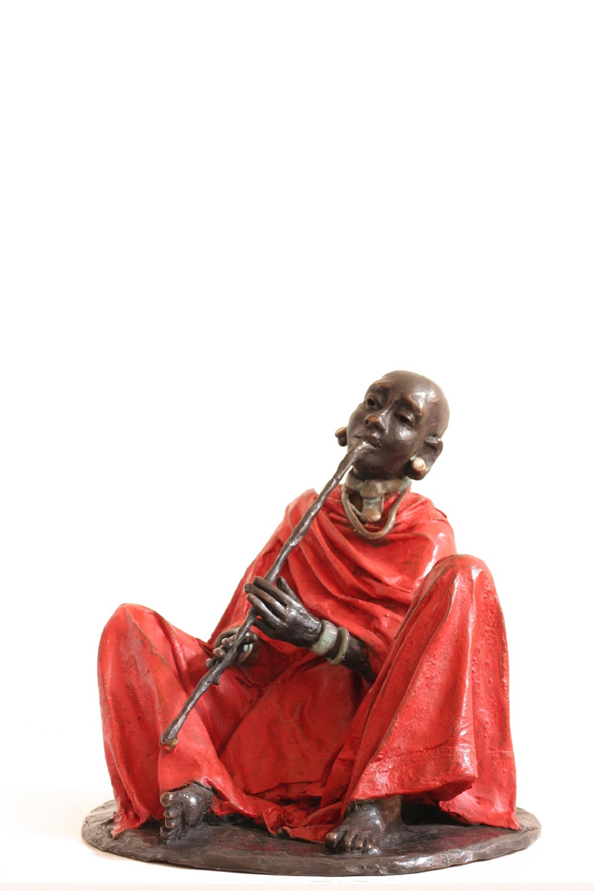 Fluteplaying samburu red, 28 cm, no 200220