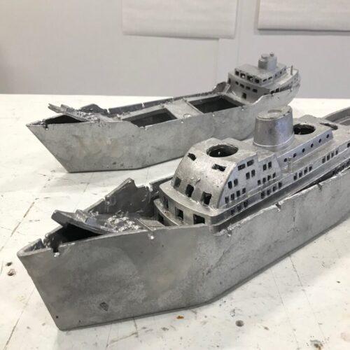 ship sinking in itself